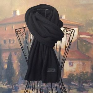 BNWT Authentic MOSCHINO Black Scarf
